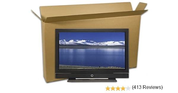 EcoBox, caja para TV de pantalla plana de 50 a 55 pulgadas y kit de espuma UBlox (E-6834).: Amazon.es: Oficina y papelería