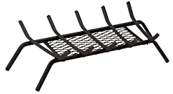 Panacea 15441 Five Bar Fire Grate with Ember Catcher, Black, 23-Inch