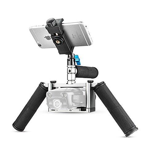 Dual Handheld Bracket Kit for DJI Mavic Air, HolaFotot Metal Cinema Tray Mavic Camera Gimbal Stabilizer for DJI Mavic Air