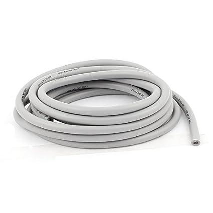 DealMux 2M 12AWG elétrica núcleo de cobre flexível de silicone Fio cabo cinza