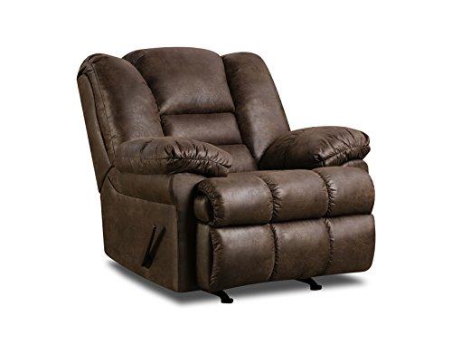 - Simmons Upholstery Lattimer Cocoa Rocker Recliner