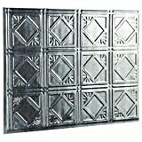 Panel Traditional 4 Cross Hatch Silver, CH SILVER TRAD 4 PANEL