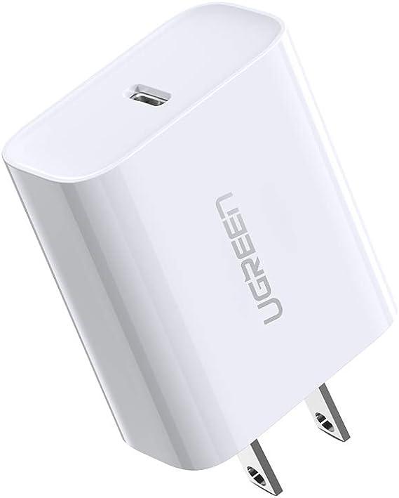 Amazon.com: UGREEN Cargador USB C 18W PD 3.0 Tipo C Cargador ...