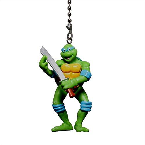 - Teenage Mutant Ninja Turtles Figure Ceiling FAN PULL light chain (LEONARDO - blue mask)