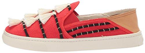 Soludos Women's Tassel Slip Sneaker, Red/Beige, 8 B US by Soludos (Image #5)