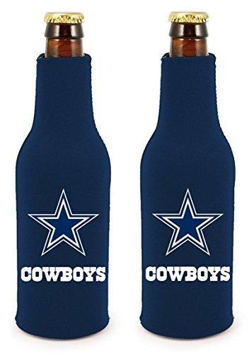 NFL Football 2014 Team Color Logo Bottle Suit Holder Cooler 2-Pack (Dallas Cowboys)