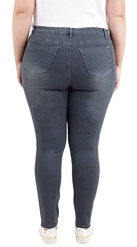 Chocolate Nouveau Pantalon 5 44 Empocher Pickle pantaloons 50 Maigre Stretchy Anthracite les Denim Plus Dames Taille jeans cWc4p