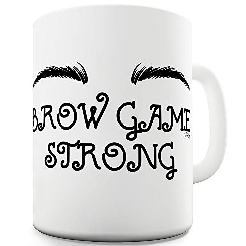 Pomade Web (11 OZ Funny Mugs For Work Brow Game Strong)