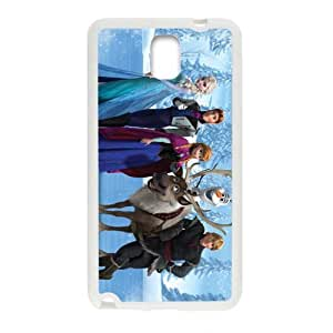 Happy Frozen Princess Elsa Anna Kristoff Olaf Sven Hans Cell Phone Case for Samsung Galaxy Note3