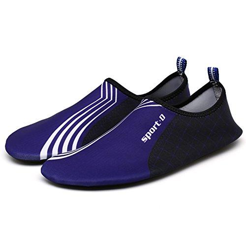 Chaussures De Natation, Wingbind Chaussures De Plage À Séchage Rapide Aqua Chaussures De Plongée Piscine Chaussures De Surf Pour Les Femmes Hommes Adultes Bleu
