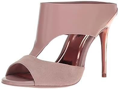 Ted Baker Women's Torr Lthr Af Shoes Dress Sandal, Mink/Rose Gold, 9 M US