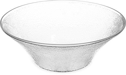(Carlisle SB9407 Acrylic Pebbled Bell Bowl, 6 qt. Capacity, 14