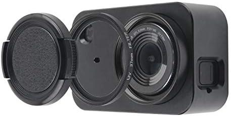 JIXIAO Accesorio Carcasa Carcasa Protectora de aleación de Aluminio con Lente de Filtro de 37 mm, Tapa de Lente y Tornillo for cámara pequeña For xiaomi Mijia (Negro) (Color : Black )