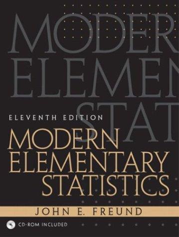 Modern Elementary Statistics, 11th Edition (Modern Business Statistics)