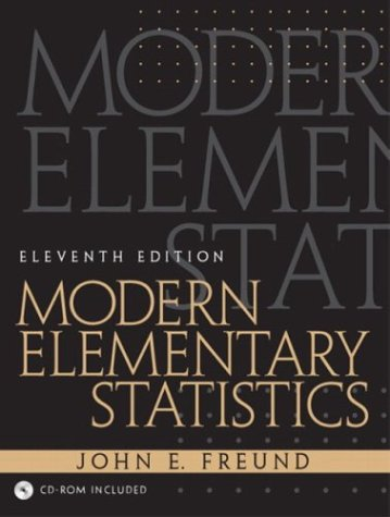 Modern Elementary Statistics, 11th Edition