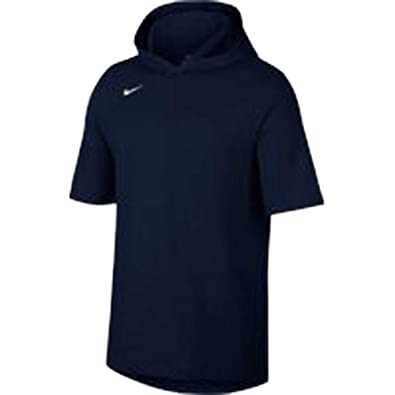 356343c34b Image Unavailable. Image not available for. Color  NIKE Mens Hooded Players  Tee Team Navy White Size L