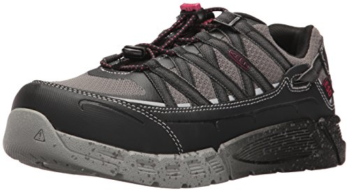 KEEN Utility Women's Asheville AT ESD Industrial and Construction Shoe, Black/Gargoyle, 6 W US