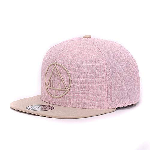 Embroidery Brand Flat Brim Baseball Cap Youth Hip Hop Cap and Hat for Boys and Girls Khaki ()