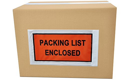 Packing List Enclosed Envelope Full Face Back Side Load 2.0 Mil Thick - 5.5'' x 10'' 20000 Pieces by PSBM by PackagingSuppliesByMail