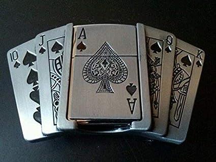 Lighter Metal Belt Buckles 4cm Wide Accessories Men/'s Spades A Playing Card