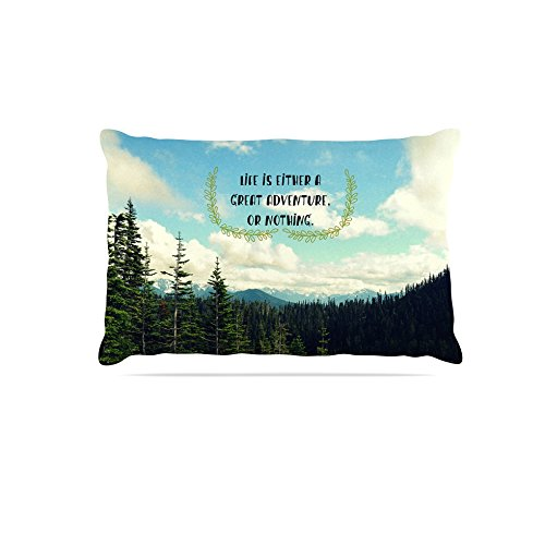 Kess InHouse Robin Dickinson Life Is.  Typography Fleece Dog Bed, 50 by 60 , Landscape
