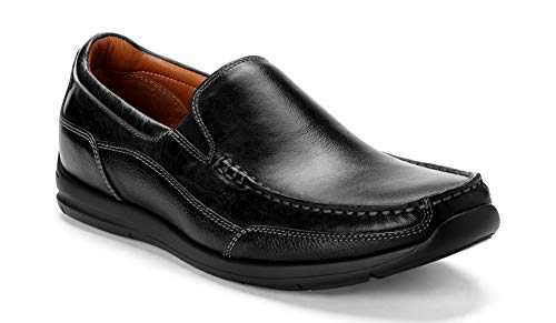 Vionic Men's Astor Preston Slip-on Loafer - Dress or Casual - Leather Loafers for Men with Concealed Orthotic Support Black 7 M US