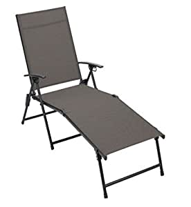 Amazon.com : Living Accents Zs156180 Sling Chaise Lounge ... on Living Accents Sling Folding Chaise id=18701