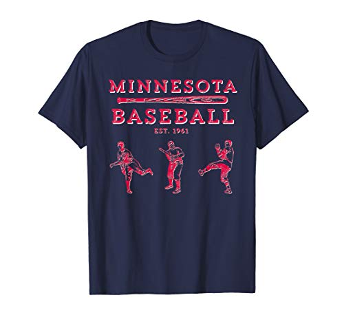 (Classic Minnesota Baseball Twin Cities Fan Retro T-Shirt T-Shirt)