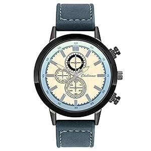 Relojes de Lujo Personalidad Única Moda Hombres de Cuero Reloj de Cuarzo Reloj de Hombres Reloj
