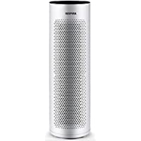 NISPIRA HB50 5-in-1 Tower Air Purifier With Air Quality Sensor. Includes True HEPA Filter, Ionizer, Allergen and Odor Reduction Carbon Filter. Remove Allergens and Bacteria. Covers up to 550 Sq Ft