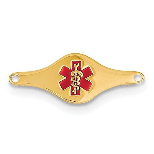 Best Birthday Gift 14k Medical Jewelry ID Plate