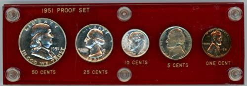 (1951 Silver Proof Set In Plastic Holder)