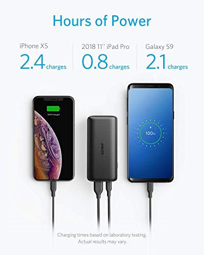 Anker PowerCore 10000 PD, 10000mAh Portable Charger USB-C Power Delivery (18W) Power Bank for iPhone 8/8+/X/XS/XR/XS Max, Samsung Galaxy S10, Pixel 3/3XL, iPad Pro 2018, and More (Renewed)