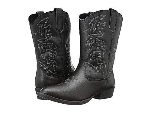 Deer Stags Ranch Kids Cowboy Boot (Toddler/Little Kid/Big Kid), Black, 12 M US Little Kid -