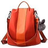 Barwell Women Backpack Ladies Rucksack Waterproof Nylon School bags Anti-theft Dayback Shoulder Bags, Orange
