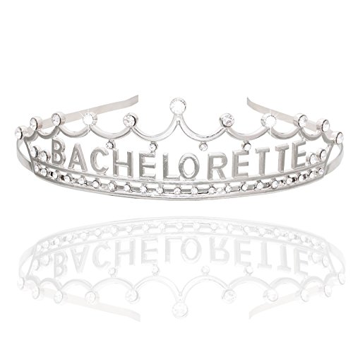 DaXi Bachelorette Party Crowns Headbands Tiaras with Glittered Rhinestone
