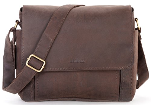 LEABAGS Cincinnati genuine buffalo leather camera bag in vintage style - Nutmeg by LEABAGS