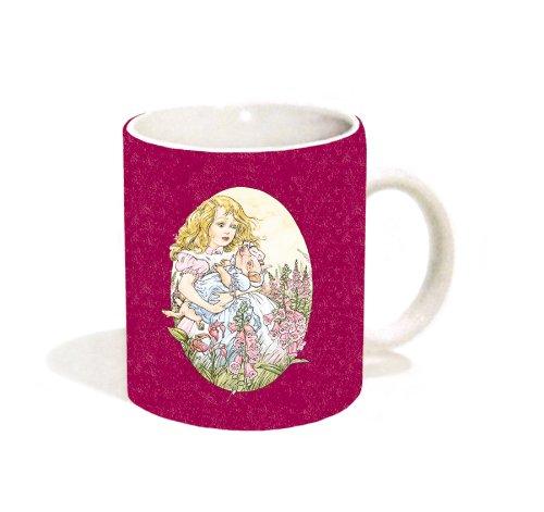 Alice Holding Pig (Alice in Wonderland) Fantasy Decorative Story Book Art Ceramic Gift Coffee (Tea, Cocoa) 11 Oz. Mug