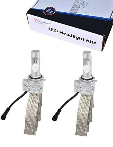 9006 HB4 LED Headlight Bulb - 8000 LM per Set - White Light Conversion Kit - All-in-One Sinoparcel 2 Yr Warranty