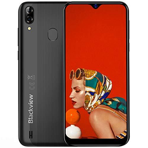 """Moviles Libres, Blackview A60 Pro Smartphone 4G de Pantalla 6.1"""" (19.2:9) Water-Drop Screen, Teléfono 3GB+16GB (SD 256GB), 8MP+2MP+5MP, Batería 4080mAh Teléfono Móvil, Android 9.0, Face ID/GPS-Negro a buen precio"""