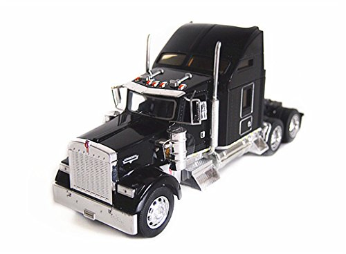 1:32 Welly Kenworth W900 Semi Tractor Trailer Truck Diecast Model Black New in Box 32660