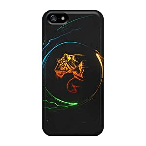 Iphone 5/5s Case Cover Multicolor Tigers Case - Eco-friendly Packaging