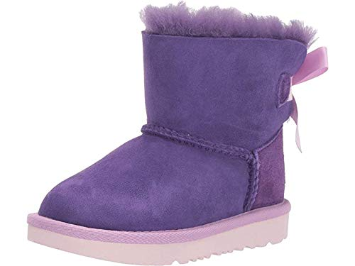Ugg Girls Bailey Bow (UGG Girls' T Mini Bailey Bow II Fashion Boot, Violet Bloom, 6 M US)