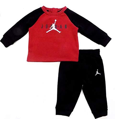 Nike Air Jordan Baby Boys 2 Piece Sweatsuit - Red/Black (18 Months) (For Sweatsuits Jordan Kids)