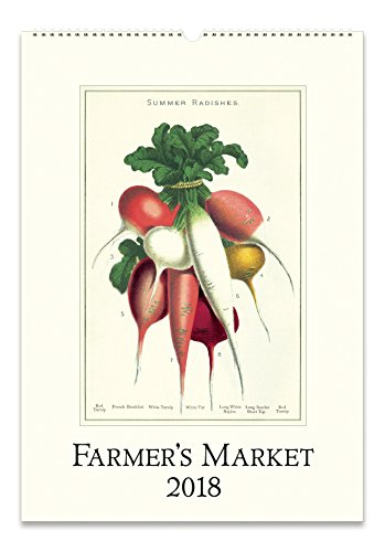 Cavallini Papers Farmer's Market 2018 Wall Calendar