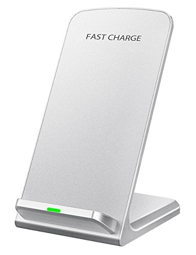 Seneo iPhoneX Wireless Charger, Qi Certified 10W Fast Wireless Charger Charging Pad Stand(No AC Adapter) for Galaxy S9/S9+ Note 8/5 S8/S8+ S7/S7 Edge S6 Edge+, Standard Qi Charger for iPhoneX/8/8+