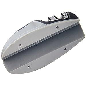 KitchenIQ 50009 Edge Grip 2 Stage Knife Sharpener, Black