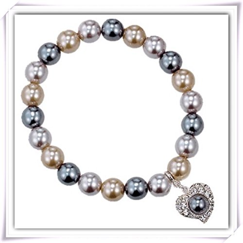 Avon pearlesque bracelet with heart charm