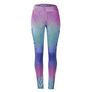 Zehui Pantalones elásticos de Mujer, Pantalones de Deportes Atractivos Coloridos Impresos Pantalones de Yoga de Alta Elasticidad 2018 últimos moldes XL ...