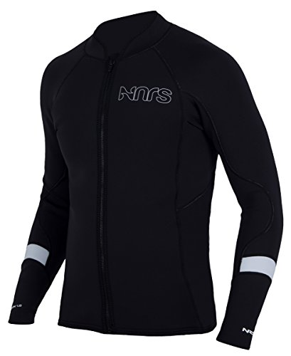 NRS Grizzly HydroSkin 1.5 Jacket - Men's Black Medium by NRS